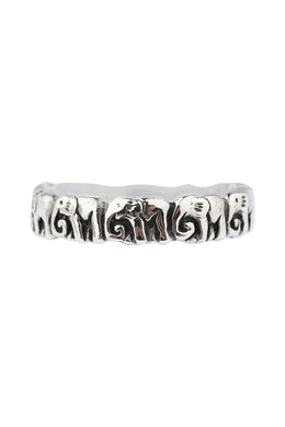 Tribe Of Elephants Silver Ring