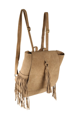 Suede Tassels Backpack