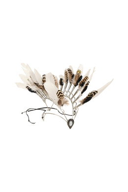 Metal Feather Festival Headdress