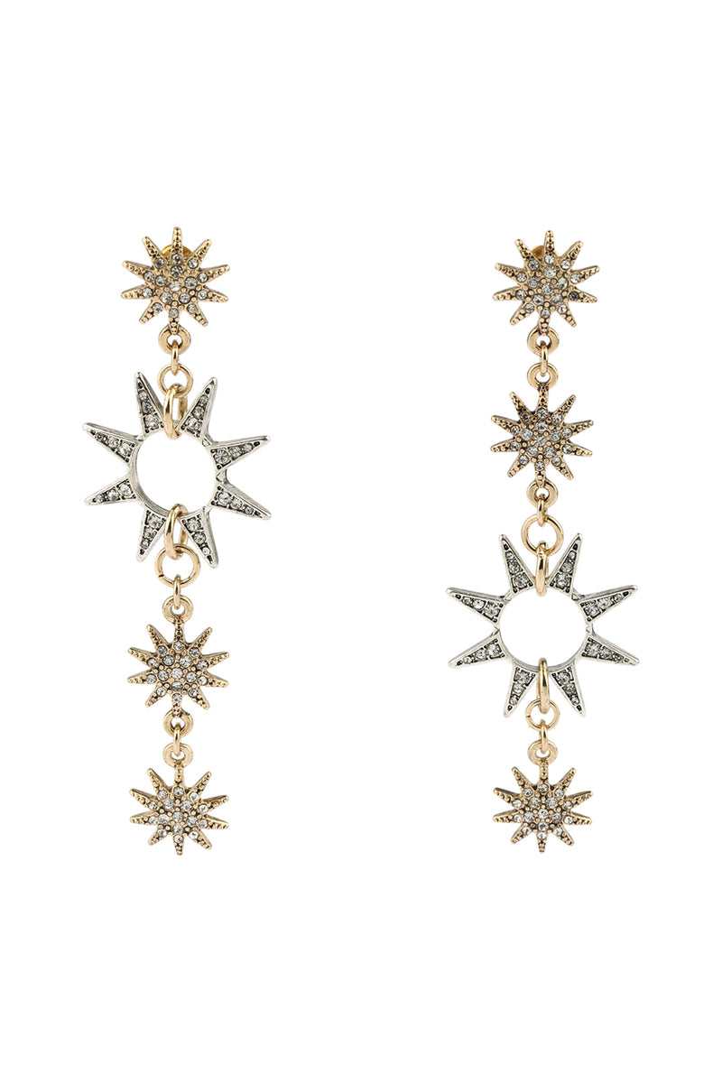 Stars at Night Asymmetrical Earrings