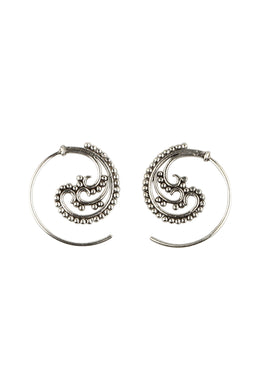 Mini Paisley Dot Thread Earrings