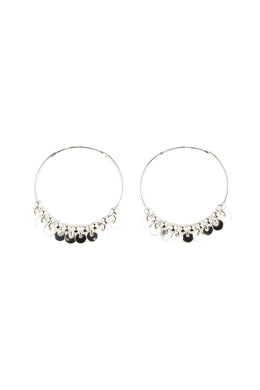 High Shine Droplet Disc Hoop Earrings