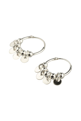 Mini Sleeper Droplet Disc Earrings
