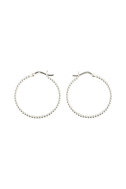 Beaded Large Hoop Earrings