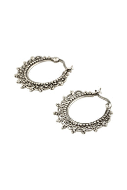 Tribal Swirl & Dots Hoop Earrings