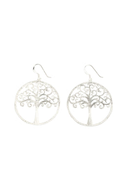 Tree Of Life Disc Luster Earrings