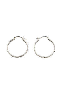Open Wave Swirl Hoop Earrings