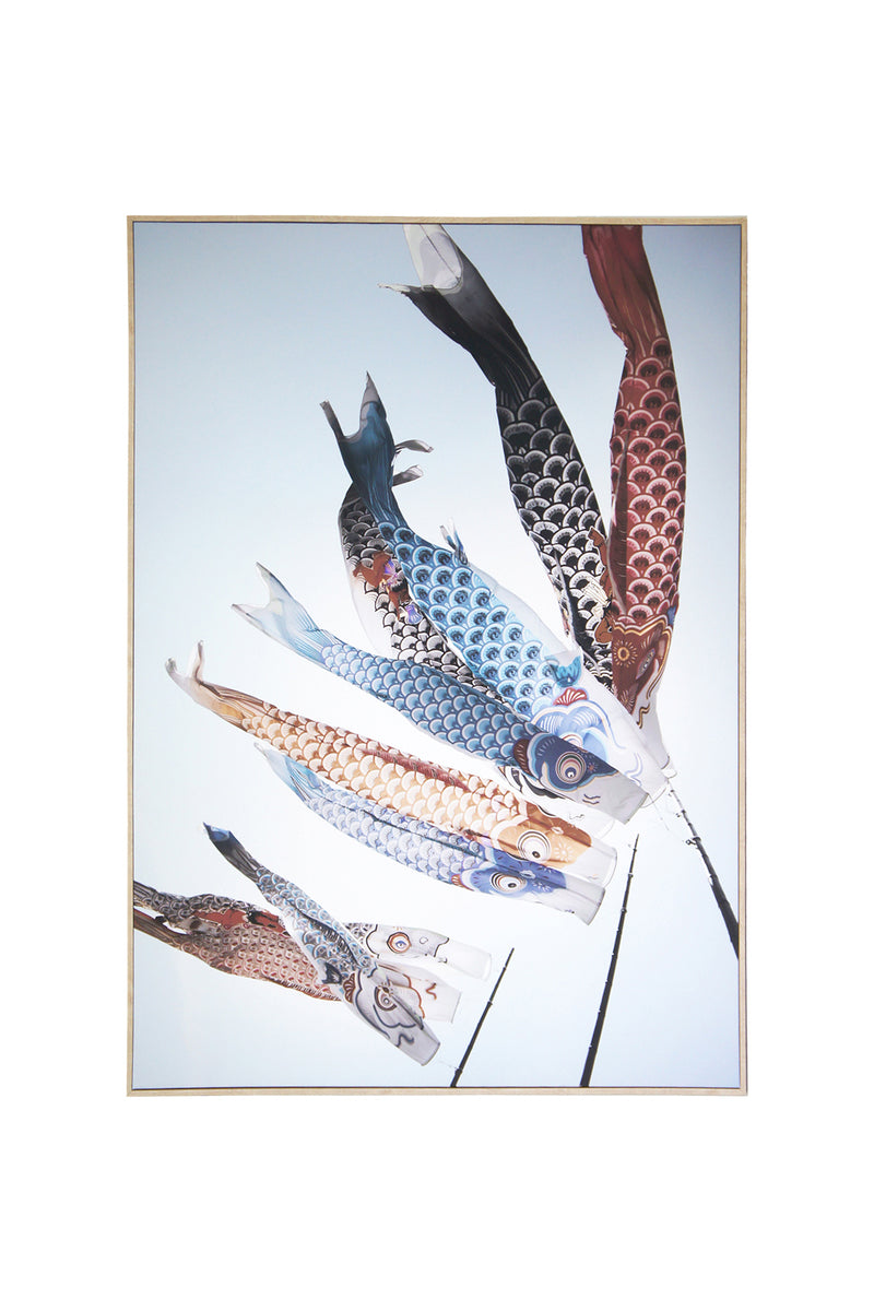 Fish Kites Canvas Wall Art