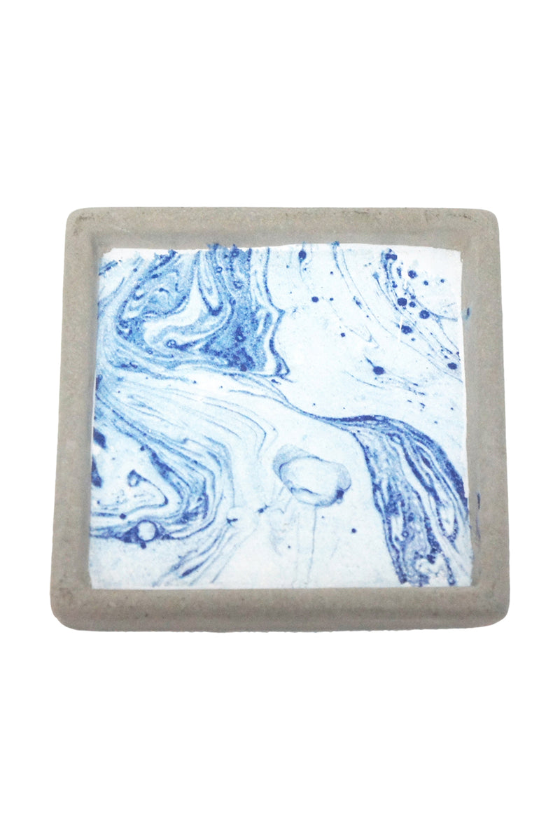 Masina Blue Marble Cement Coaster