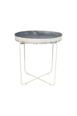 Santino Metal Tray Top Side Table