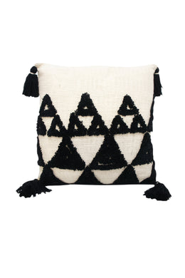 Black Triangle Tuft Cushion