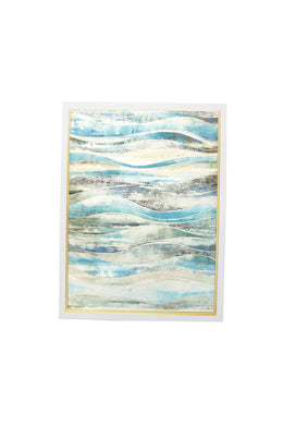 Coastal Waves Canvas Wall Art