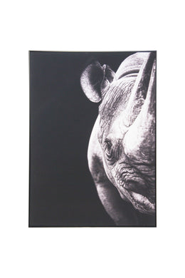 Rhino Portrait Canvas Wall Art