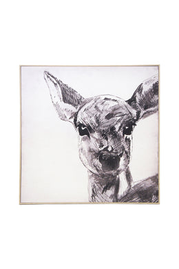 Bambi Sketch Canvas Wall Art