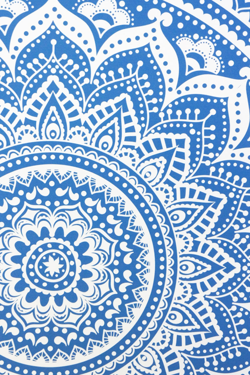 Blue Mandala Canvas Wall Art