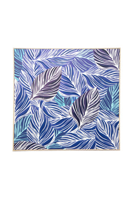 Blue Leaves Canvas Wall Art