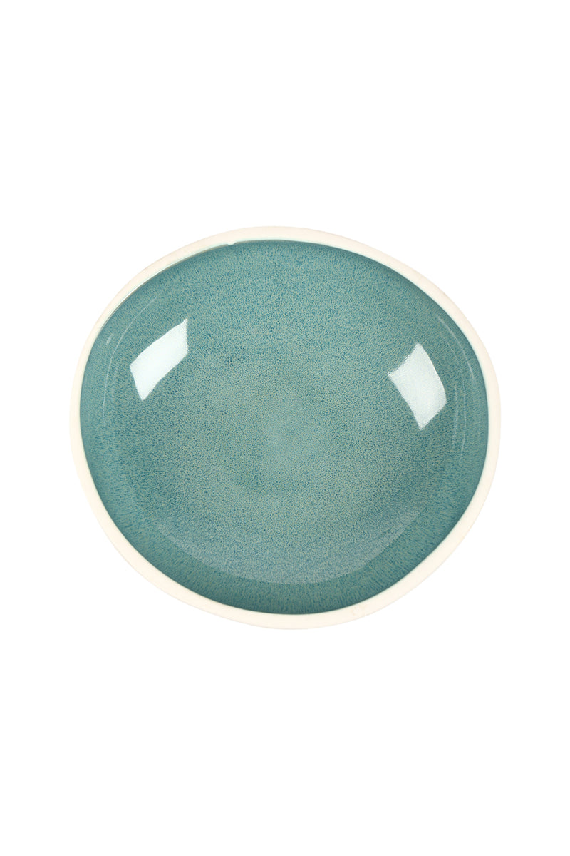 So Cinque Small Blue Ceramic Platter