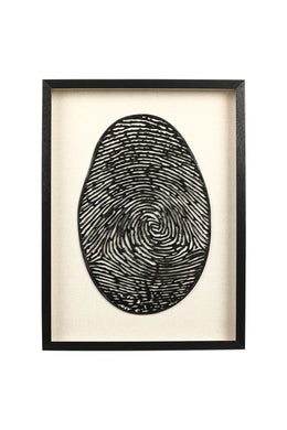 Framed Fingerprint Canvas Art