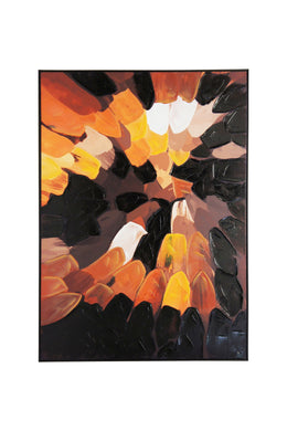 Earthy Paint Petals Canvas Wall Art
