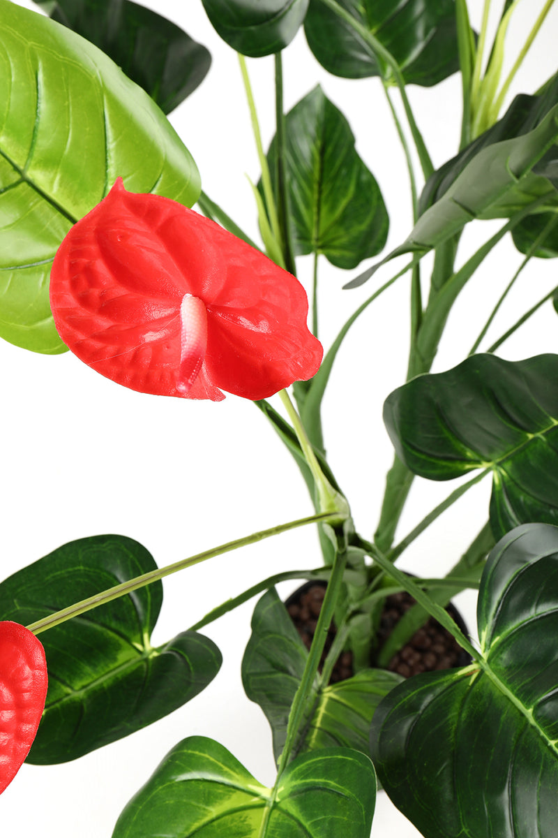 Artificial Anthurium Plant with Pot