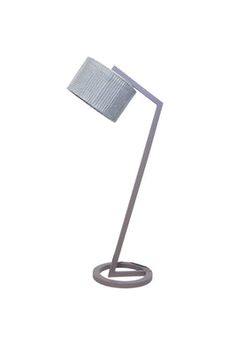 Elk Grey Knitted Shade Floor Lamp