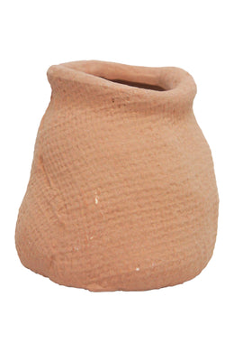 Midsize Terracotta Hessian Ceramic Vase