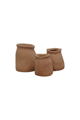Large Terracotta Hessian Ceramic Vase