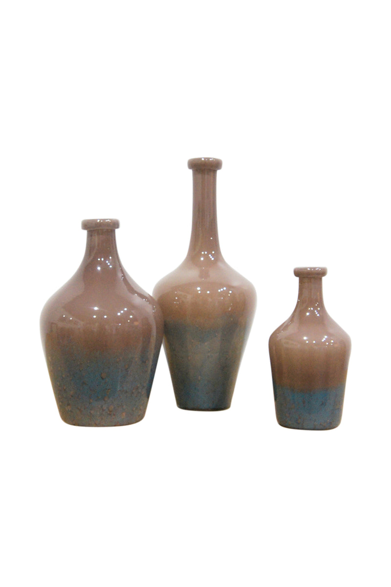 Rush Glass Mottle Brown Vase