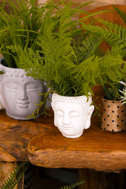Artificial Fern Bush Buddha Head Plant Pot