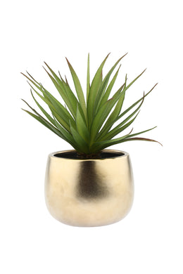 Artificial Sword Grass Gold Plant Pot
