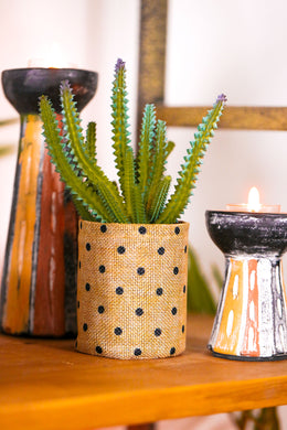Artificial Cactus Flax Plant Pot