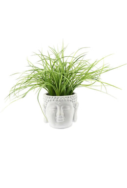 Artificial Grass Buddha Head Plant Pot