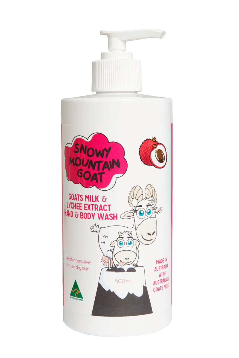 Goats Milk + Lychee Extract Hand & Body Wash