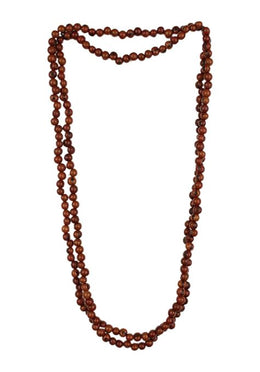 Acai Bead Multi-Wrap Necklace - Coffee