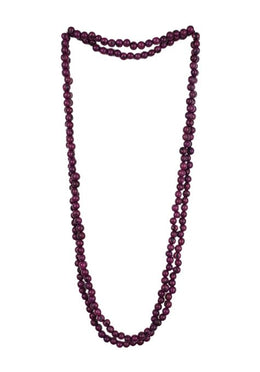 Acai Bead Multi-Wrap Necklace - Eggplant