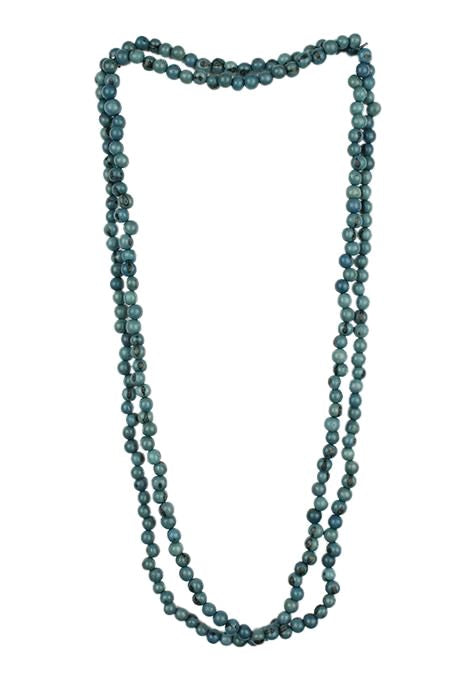 Acai Bead Multi-Wrap Necklace - Marine Blue