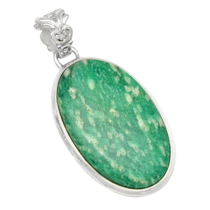 Amazonite Oval Pendant