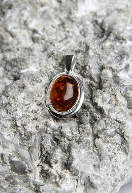 Amber Oval Pendant