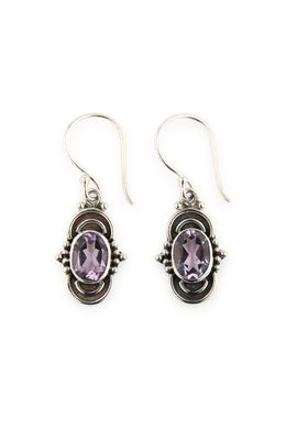 Amethyst Long Set Earrings