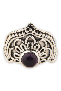 Amethyst Mandala Point Ring