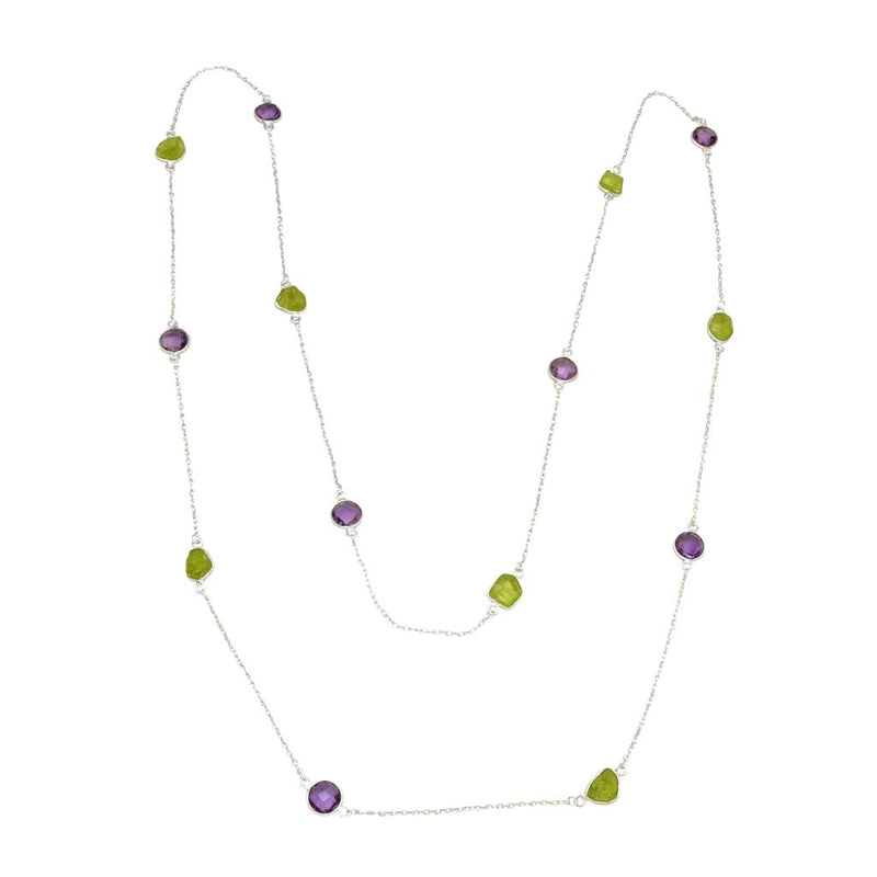 Amethyst & Peridot Necklace