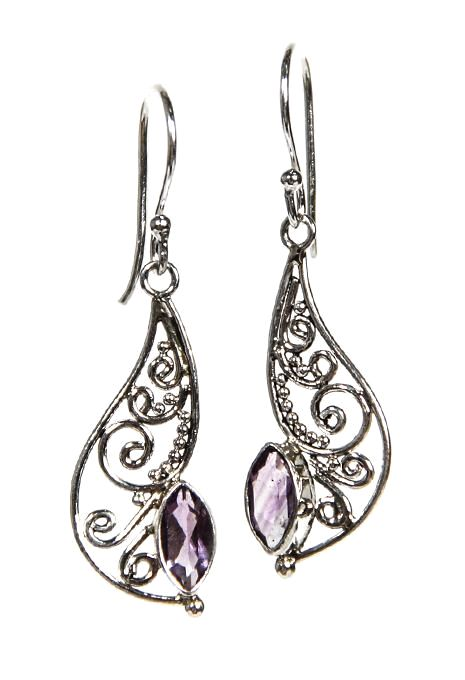 Amethyst Swirl Earrings