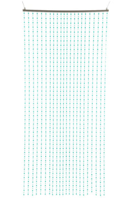 Aqua Droplets Beaded Curtain
