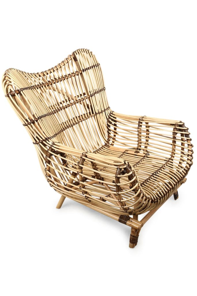 Armchair Rattan Lounge 80X98X92Cm Natural