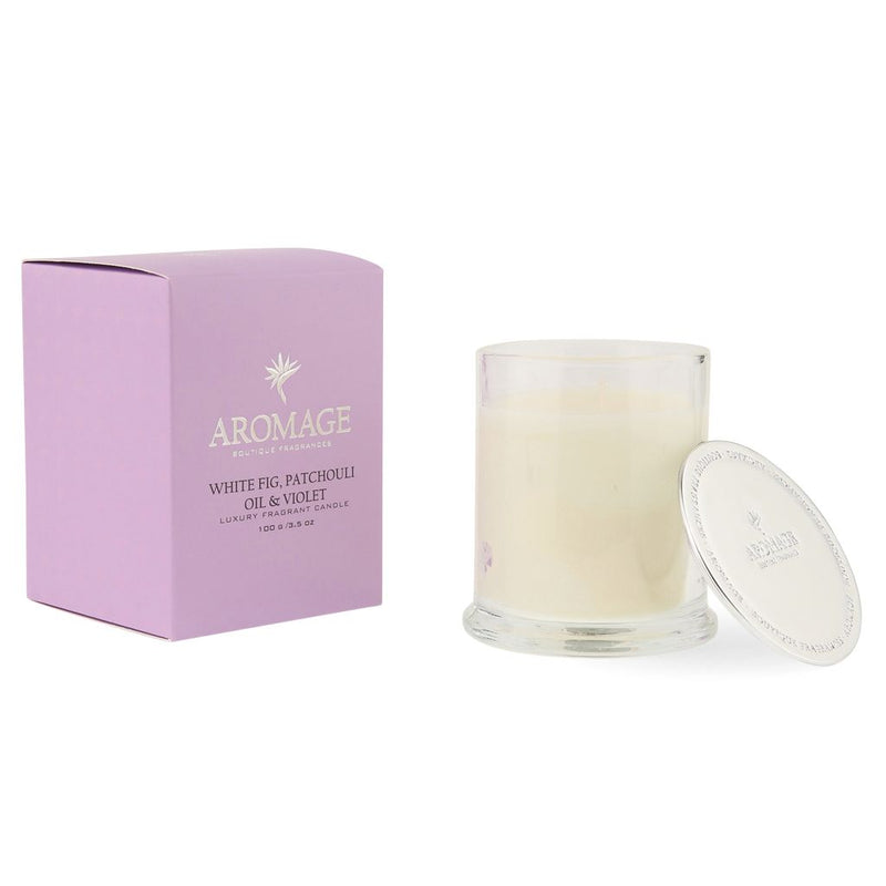Aromage Candle 100G - White Fig Patchouli Oil & Violet