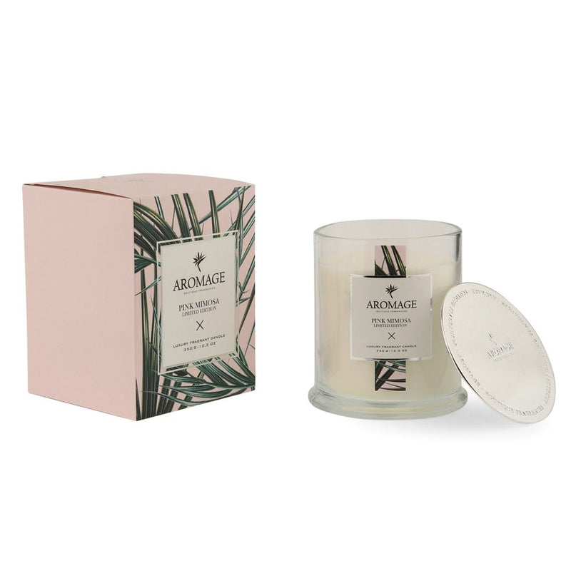 Aromage Candle 350G - Pink Mimosa