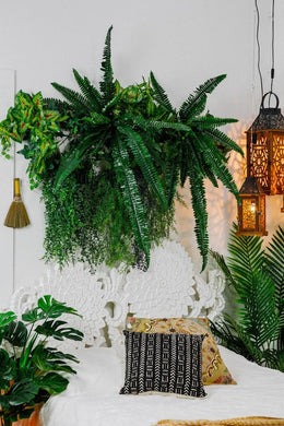 Artificial Boston Fern Pot Plant