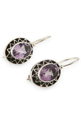 Ascended Amethyst Earrings