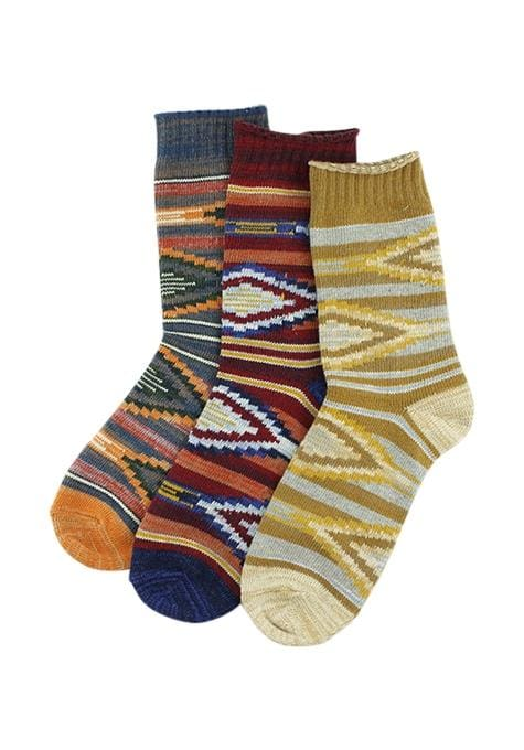 Assorted Aztec Midi Socks