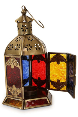 Assorted Brass Antique Hexagonal Lantern